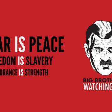 La neolingua ro$a: Orwell era un dilettante