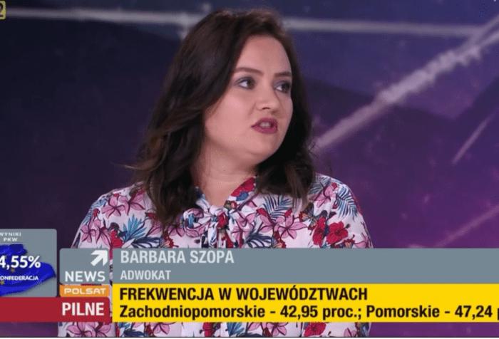 Barbara Szopa Adwokat Polsat News Interwnecja