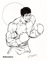 Free coloring pages of rocky boxer