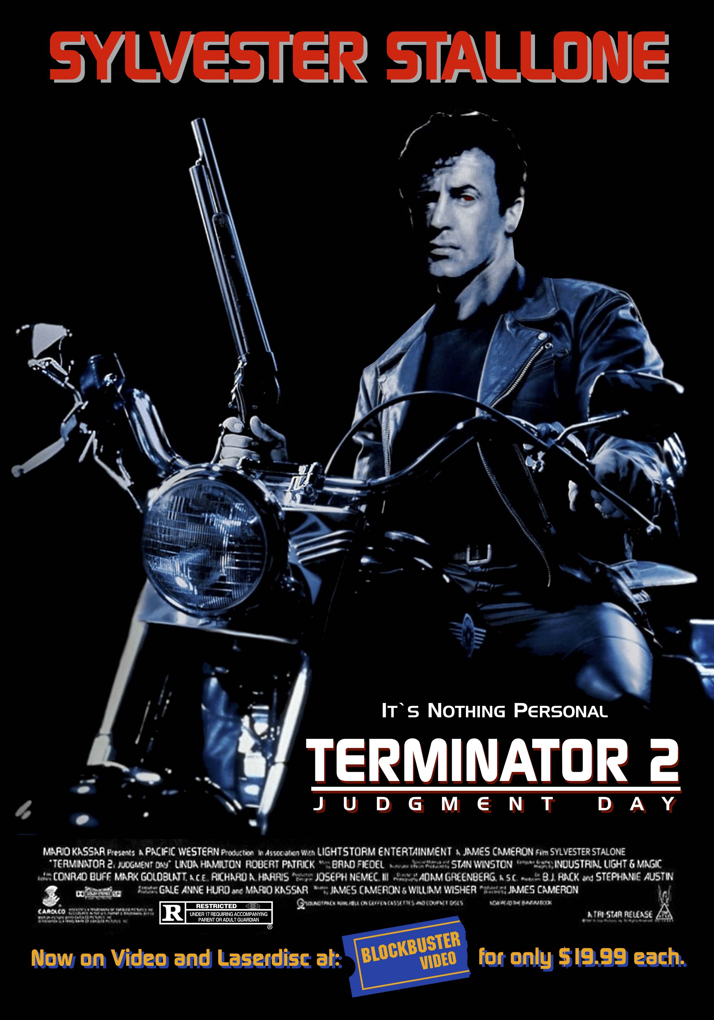 """Sly Stallone Starring in """"Terminator 2: Judgment Day ..."""