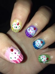cupcake confections nail art
