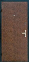входная дверь в виниле коричневая