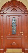 стальная дверь арочная со стеклопакетом