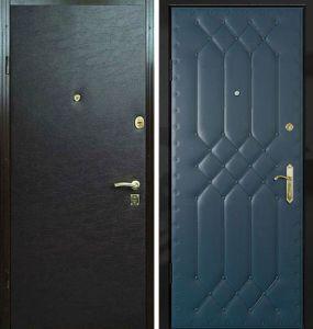 двери с отделкой виилискожв