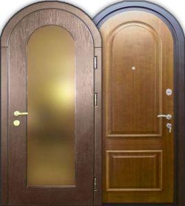 дверь арочная мдф с зералом заказать