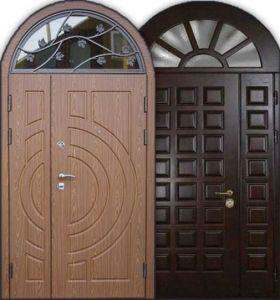 дверь стальная +стеклянная арка под заказ