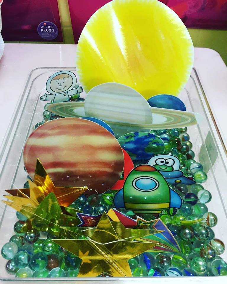 preschool at marsiling - space sensory tub