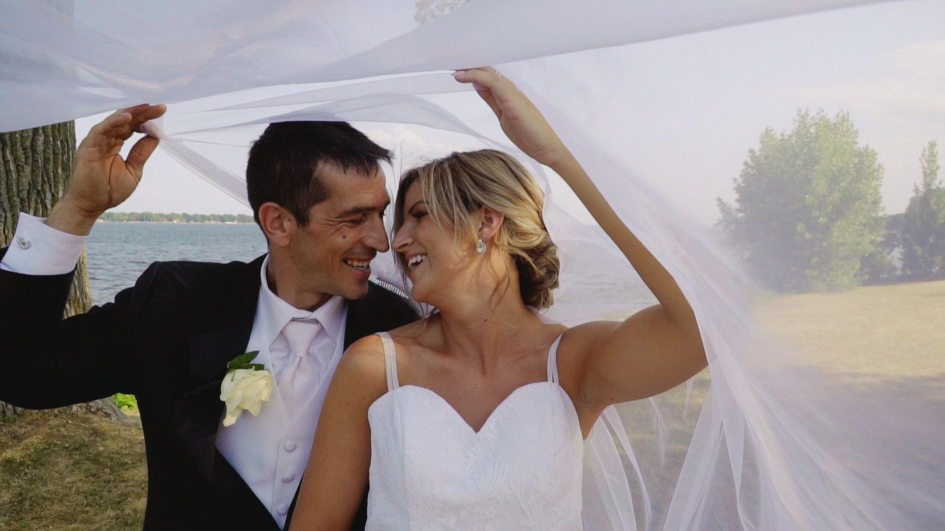 Film de mariage, vidéo de mariage, couple de mariés