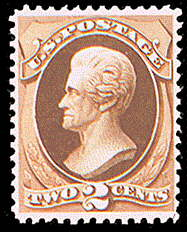 2¢ Jackson - red brown