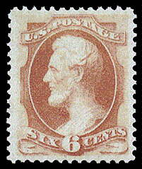 6¢ Lincoln - dull pink