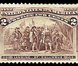 2¢ Landing of Columbus - violet
