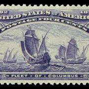 4¢ Fleet of Columbus - ultramarine