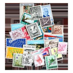 25 Different Iceland Postage Stamps