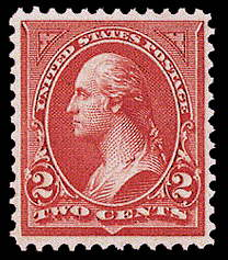 2¢ Washington Type II - carmine
