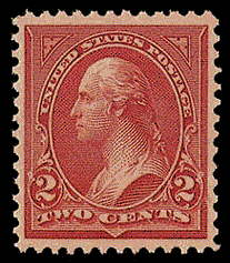 2¢ Washington Type III - carmine