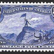 5¢ Fremont on Rocky Mountains - dull blue