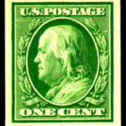 1¢ Franklin - green