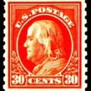 30¢ Franklin - orange red