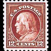 12¢ Franklin - claret brown