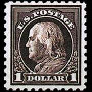 $1 Franklin - violet black