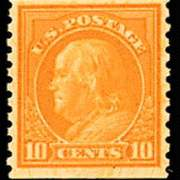 10¢ Franklin - orange yellow