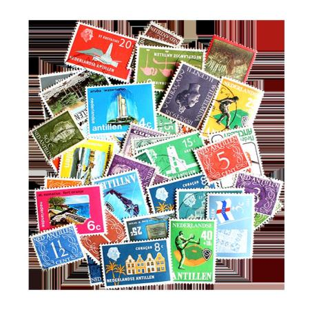 50 Different Netherland Antilles Postage Stamps