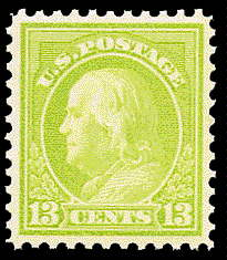 13¢ Franklin - apple green