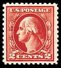 2¢ Washington Type IV - carmine
