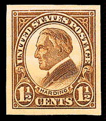 1½ ¢ Harding - yellow brown
