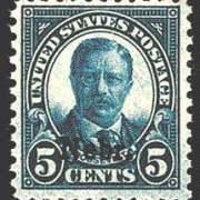 5¢ Roosevelt - deep blue