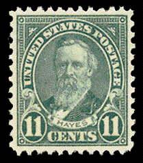 11¢ Hayes - light blue
