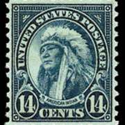 14¢ American Indian - dark blue