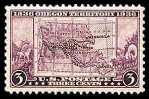 3¢ Oregon Territory