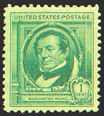 1¢ Washington Irving