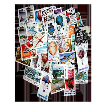 Aviation Topical Postage Stamp Collection 50 pc