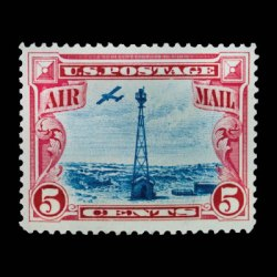1928 US airmail stamp C11 beacon on rocky mountains