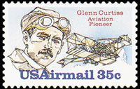 United States Airmail Stamps - 1980 - 35¢ Glenn Curtis