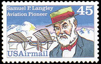 United States Airmail Stamps - 1983 - 1989 - 45¢ Samuel P. Langley (1988)