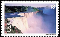 United States Airmail Stamps - 1999 - 2012 Scenic American Landscapes - 48¢ Niagara Falls (1999)