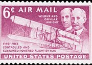 United States Airmail Stamps - 1949 - 6¢ Wright Brothers
