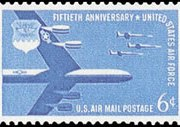 United States Airmail Stamps - 1957 - 6¢ U.S. Air Force
