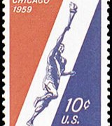 United States Airmail Stamps - 1959 Commemoratives - 10¢ Pan American Games