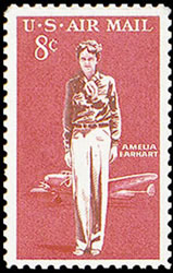 United States Airmail Stamps - 1963 -1964 - 8¢ Amelia Earhart
