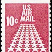United States Airmail Stamps - 1967 - 10¢ Star Runway Coil Stamp