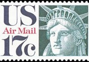 United States Airmail Stamps - 1971 - 1973 - 17¢ Liberty Head