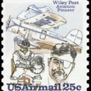 United States Airmail Stamps - 1979 - 25¢ Plane & Post