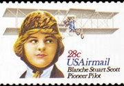 United States Airmail Stamps - 1980 - 28¢ Blanche S. Scott