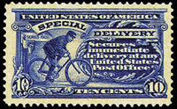 United States Special Delivery Stamps - 1902 - 10¢ ultramarine