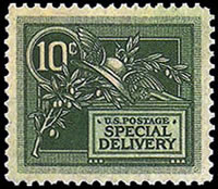 United States Special Delivery Stamps - 1908 - 10¢ green