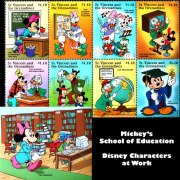 back to school stamps featuring Disney characters